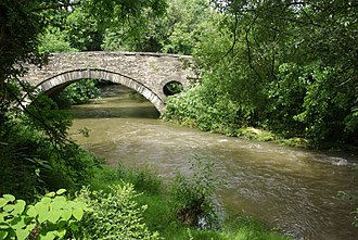 Afon Cych - Pont Treseli, Abercych