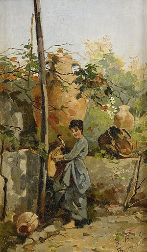 Agnes Börjesson - Italian woman at the well, by Agnes Börjeson.