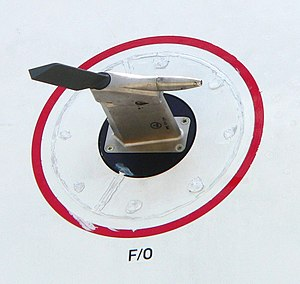 Pitot tube - Aircraft use pitot tubes to measure airspeed. The example, from an Airbus A380, combines a pitot tube (right) with a static port and an angle-of-attack vane (left). Air-flow is right to left.