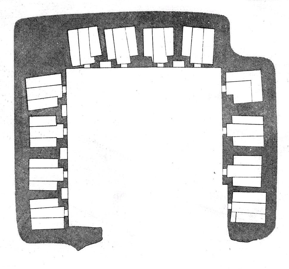 Ajanta Cave 12 plan