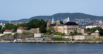Akershus Fortress - Akershus Castle and Fortress seen from Oslofjord.