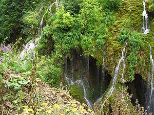 Aksu Deresi - Waterfalls of a tributary of Aksu nearby Pınarlar