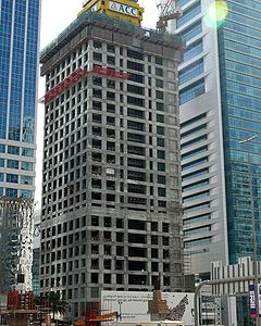 Al Yaquob Tower Under Construction on 25 January 2008.jpg
