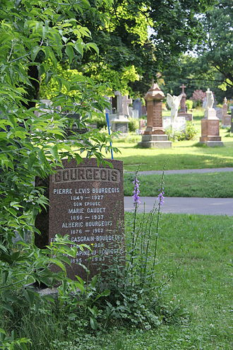 Albéric Bourgeois - Albéric Bourgeois's tombstone (1876-1962), Notre-Dame-des-Neiges Cemetery (B4467), Montreal.