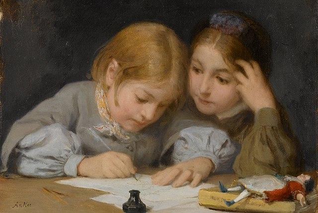 http://upload.wikimedia.org/wikipedia/commons/thumb/4/47/Albert_Anker_%281831-1910%29%2C_Schreibunterricht%2C_1865._Oil_on_canvas.jpg/640px-Albert_Anker_%281831-1910%29%2C_Schreibunterricht%2C_1865._Oil_on_canvas.jpg
