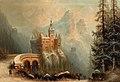 Albert Bredow Winterlandschaft mit Schlossanlage im Gebirge.jpg