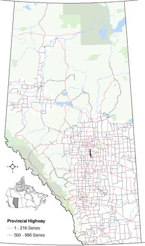 Alberta Highway 814 - Image: Alberta Highway 814