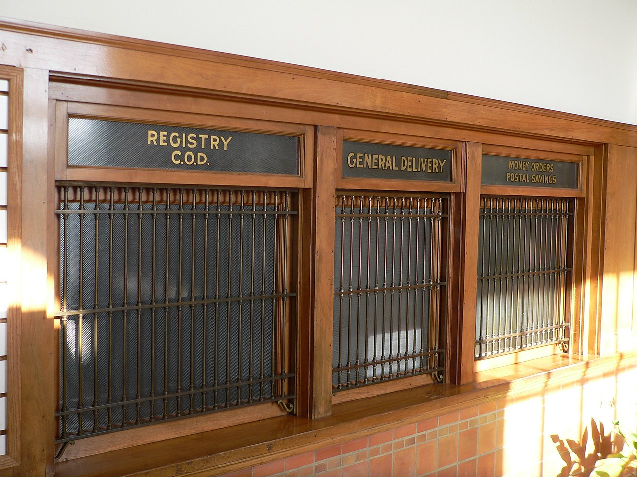 File Albion Post Office Interior Windows Jpg Wikimedia Commons