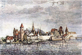 Innsbruck - View of Innsbruck by Albrecht Dürer, 1495