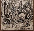 Albrecht dürer, cavaliere e lanzichenecco, 1496 ca., xilografia, 02.jpg