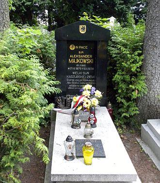 Kartuzy - Grave of Dr. Aleksander Majkowski in Kartuzy