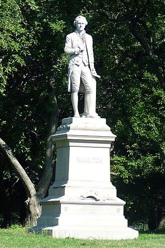 New England Granite Works - Image: Alexander Hamilton by Conrads, Central Park, NYC 01