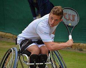 Alfie Hewett - Hewett at the 2017 Wimbledon Championships
