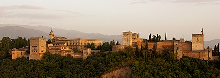 Alhambra in the evening light