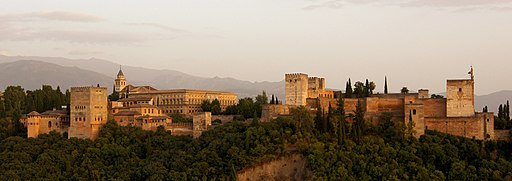 Alhambra in the evening