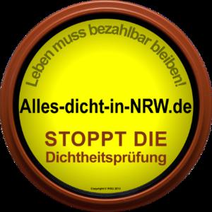 Logo der Initiative Alles dicht in NRW