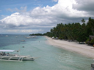 Tourist beach in the province of Bohol, Philippines