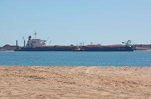 Alpha Millennium departs Port Hedland, 2012 (1).JPG