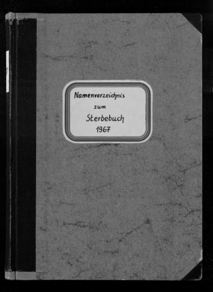 File:Alphabetisches Namensverzeichnis zum Sterberegister des Standesamtes Minden, 1967.djvu