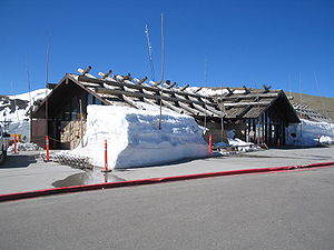 Alpine Visitor Center - The visitor center in late May