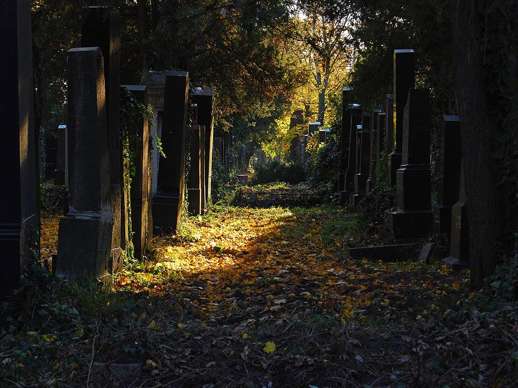 Antiguo cementerio judío en el Central de Viena