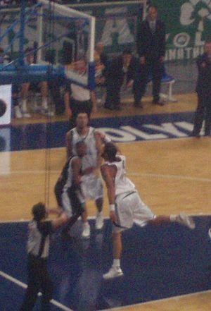 Fragiskos Alvertis - Alvertis attempting a layup