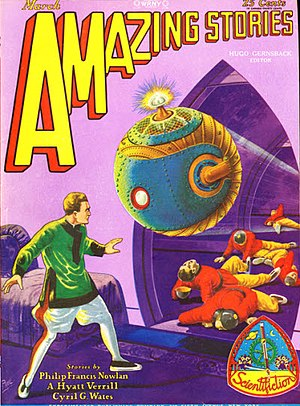 "Armageddon 2419 A.D. - ""The Airlords of Han"" was the cover story for Amazing Stories (March 1929)"