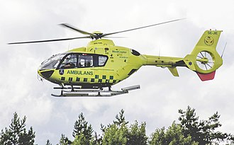 Scandinavian AirAmbulance - One of the company's EC135 helicopters