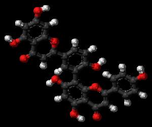 Amentoflavone - Image: Amentoflavone molecule ball