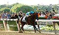 American Pharoah wins 2015 Belmont Stakes.jpg
