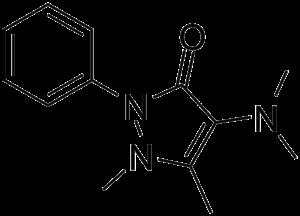 Aminophenazone - Image: Aminophenazone 2d skeletal