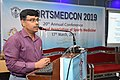 Amit Bandyopadhyay Delivering Lecture - Fitness Profile of Young Muslim Males of Kolkata During the Month of Ramadan Intermittent Fasting - SPORTSMEDCON 2019 - SSKM Hospital - Kolkata 2019-0 3511.JPG