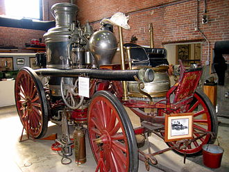 Amoskeag Locomotive Works - 1871 Amoskeag steam powered fire engine