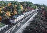 Amtrak 347 with southbound Maple Leaf approaching Bayview Junction (2), October 1981.jpg