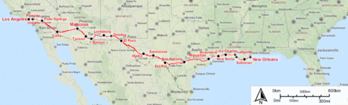 amtrak sunset limited interactive map