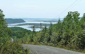 Der Amur in der Nähe der Siedlung Werchnjaja Ekon in der Region Chabarowsk, Russland