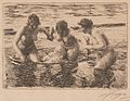 Anders Zorn - Against the Current (etching) 1919.jpg
