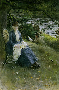ZORN Anders In Scotland (Mrs. Symons) 1887