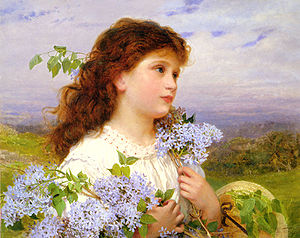 Lilac (color) - Sophie Gengembre Anderson: The Time of the Lilacs