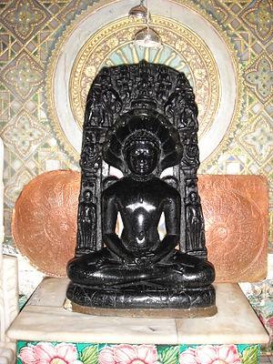 Banswara - Main idol at Andeshwar Parshwanath