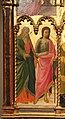 Andrea di giusto, adorazione dei magi e santi, da s. andrea a ripalta, 1436, 02 andrea a giovanni battista.jpg