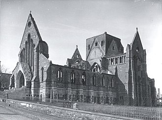 Cathedral of St. John the Baptist (St. John's) - Anglican Cathedral after the Great Fire of 1892