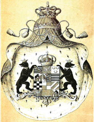 Anhalt-Dessau - Coat of arms of Anhalt-Dessau-Köthen according to Siebmachers Wappenbuch