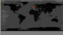 Fichier:Animation - Global distribution of Wikipedia edits from Wikimedia Stats.ogv