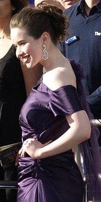 Anna Popplewell na première de As Crônicas de Nárnia: Príncipe Caspian no Reino Unido