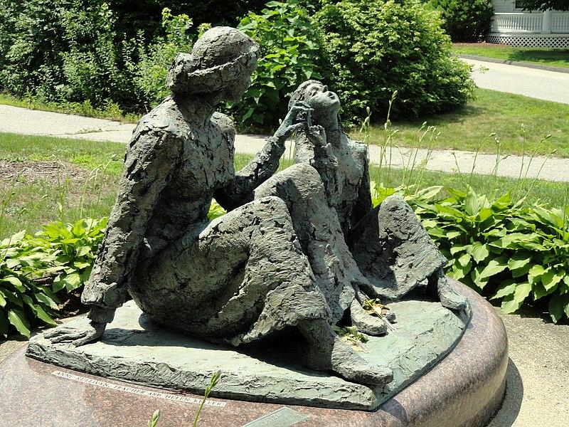 File:Anne Sullivan - Helen Keller memorial - Tewksbury, Massachusetts - DSC00072.JPG