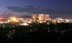 Anning, Yunnan - Image: Anning City in night