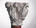 Anonyme toulousain - Chapiteau de colonne simple , Lions dans des lianes - Musée des Augustins - ME 222 (2).jpg