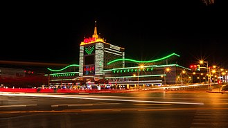 Anshan - Anshan train station at night