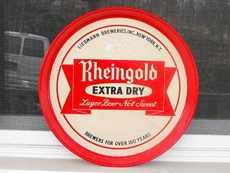 Rheingold Beer - Antique Rheingold beer tray